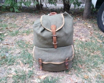 Medium, Vintage Military Backpack for Hiking #2
