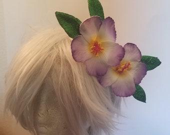 Hibiscus, Hisiscus flower, Flower, Flower clip, Tiki, Tiki hair flower, Tiki Oasis, Purple flower