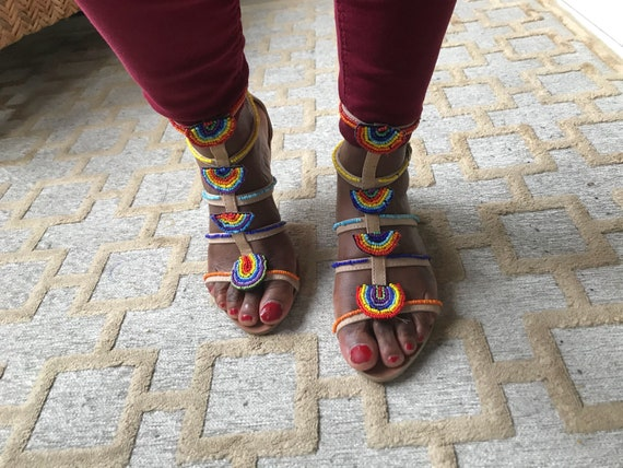 MASAI COLOURED SANDALS