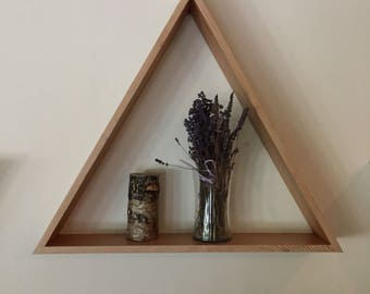 Reclaimed Wood Triangle Shelf Large