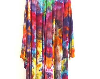 Tie Dye Harem Jumpsuit Romper Multicolour Hippie Festival Summer Baggy Lagenlook Gift For Her One Size