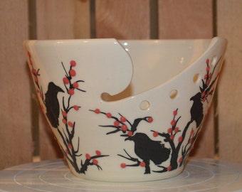 Raven Tree Porcelain Yarn Bowl