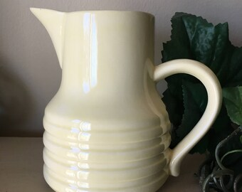 USA Pottery Ringed Creamer Pitcher