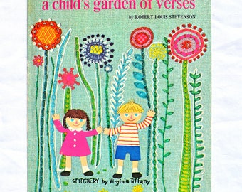 Vintage Big Golden Book Selections From A Child's Garden of Verses By Robert Louis Stevenson