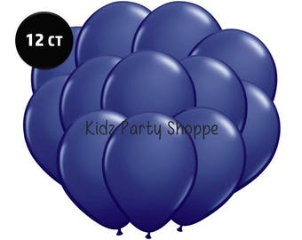 """Navy Blue Balloons [12ct] 11"""" Latex Birthday Party Shower School Graduation Decorations Backdrop Photo Prop Centerpiece Supply Supplies"""