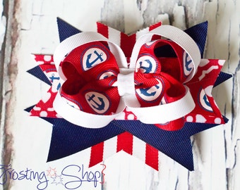 Anchors Away Bow- Fourth of July