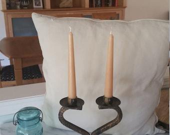Cast iron candleabra