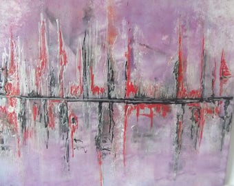Magical reflections: acrylic on canvas, abstract original, water lights, abstract art, mixed media