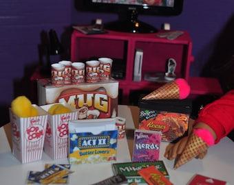 American Girl 18 inch Doll Movie Night Food