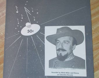Vintage 1955 sheet music - Recorded by Mitch Miller - The Yellow Rose of Texas - Estate find!