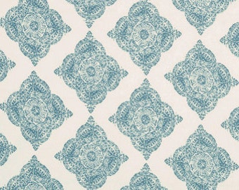 John Robshaw Mani Aqua 21038-19 Fabric by the yard