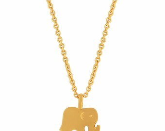 Elephant Necklace Gold. Elephant Pendant Necklace