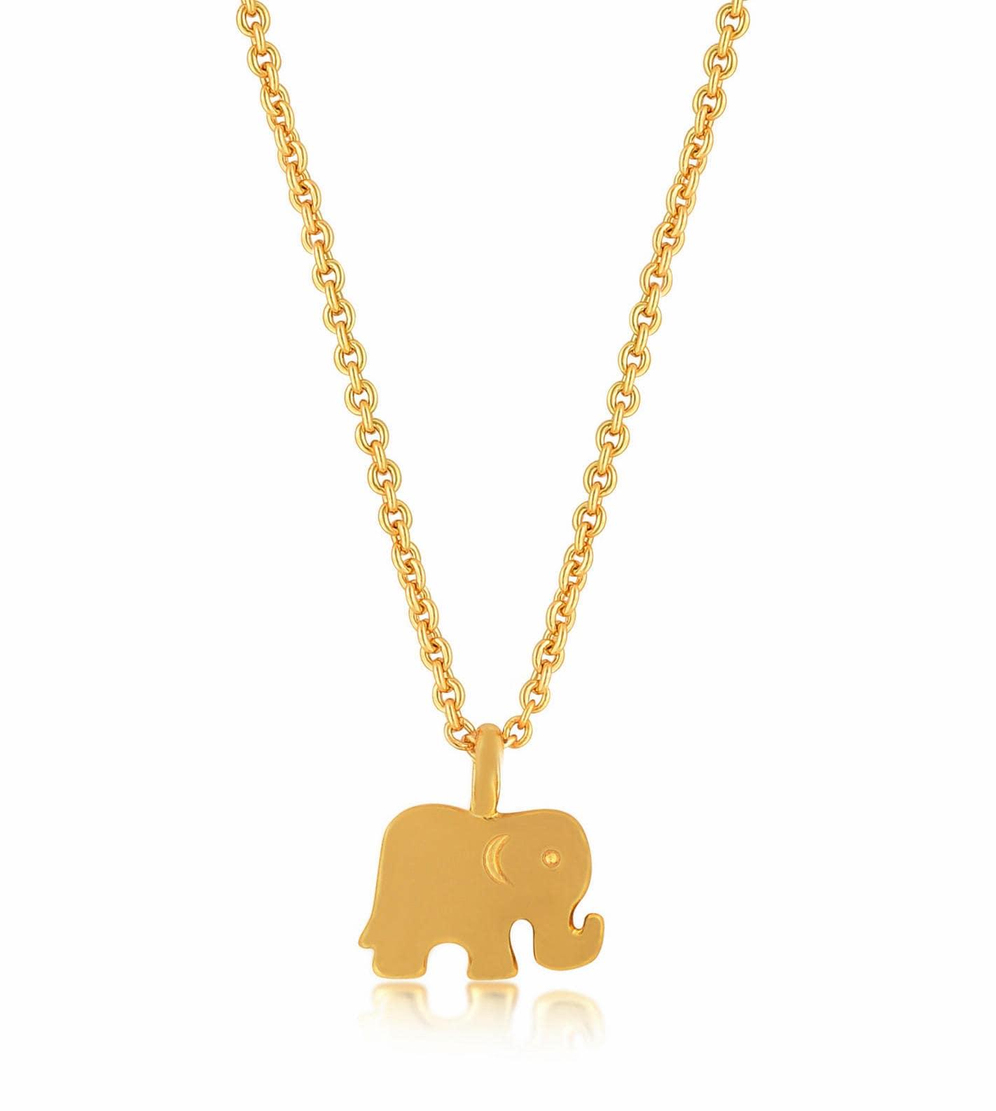 Elephant necklace gold elephant pendant necklace zoom aloadofball Gallery