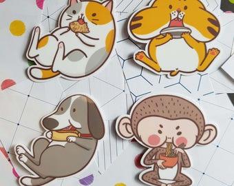Nom Nom Animals Sticker Pack
