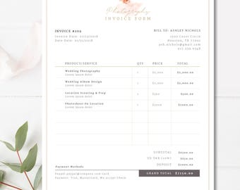 Invoice Template Etsy - Etsy invoice template