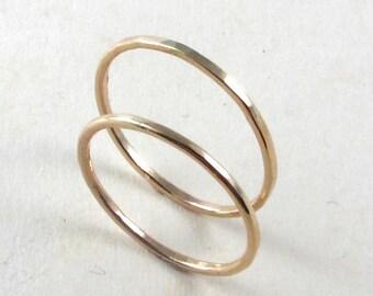 12 karat yellow gold rings, hammered gold ring 12k