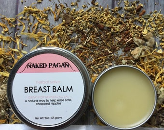 Breast Balm   Nipple Balm   Healing Nipple Balm   All Natural Breast Balm   Natural Skin Care   Healing   Herbal Remedy