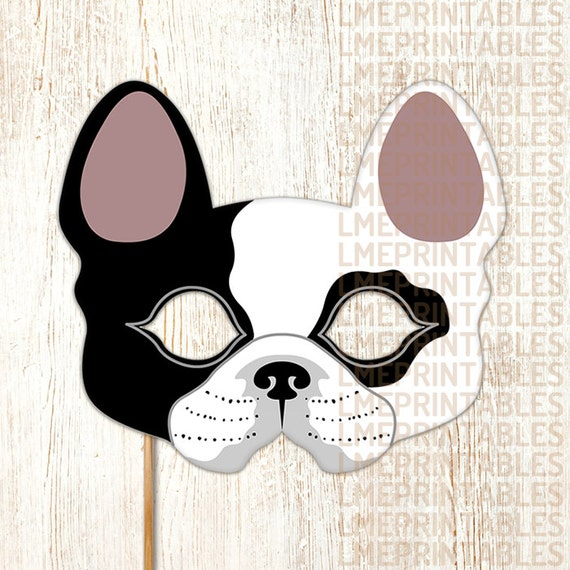 Influential image within dog mask printable