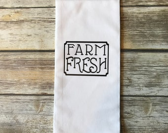 Farm Fresh Tea Towel - Farm Fresh - Tea Towel - Custom Tea Towel