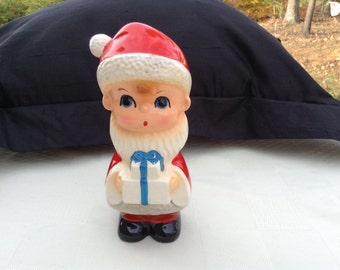 Boy With Gift in Santa Suit Figurine Japan