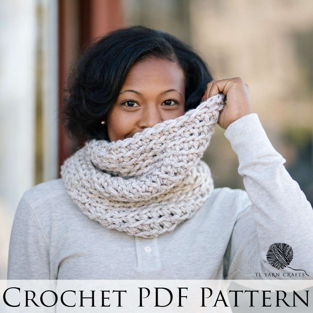 Level 4 Snood Crochet Pattern // Wool Free Crochet Cowl
