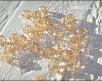3 mm Light Colorado Topaz Abacus beads X 50