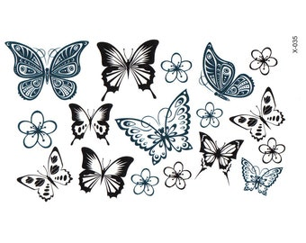 2pc butterfly print temporary tattoo sticker-10516x2