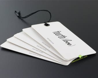 Custom Hang Tags, Hang Tag Custom Clothing Label, Hanging Tag, Paper Tags, Printing on Cardstock, Printing Services, Paper Cardstock.