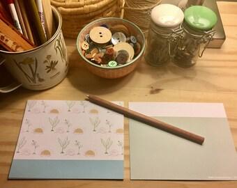 Sunset & Rainbow Notecards - Blue