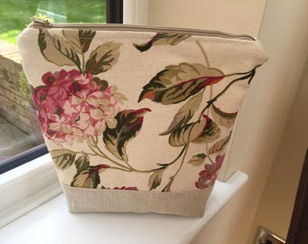 Make up bag, toiletry bag, Laura Ashley fabric