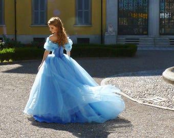 Cinderella Blue Ball Gown - Halloween Costume - Cosplay Princess Dress