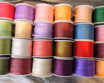 Silk Ribbon 4mm 120 yard selection 5 yards each color