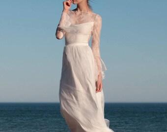 Lace Wedding Skirt, Bohemian, Tulle Wedding Skirt, Bridal Separates, Beach Wedding, Bridal Skirt, Lace Wedding Dress, boho - Sonella Skirt