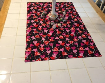 fabric table topper,Valentine's Day table runner, coffee table topper