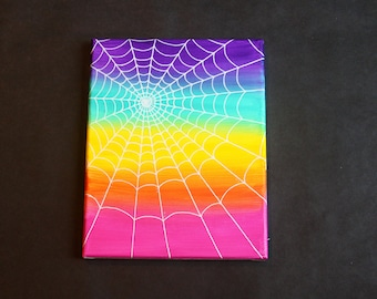 Rainbow White Web