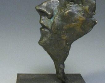 Wisp Man / Bronze Figurative Sculpture / Valerie Gilman / Taproot Arts and Insight