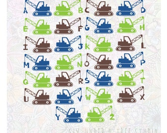 ABC Demolition Trucks Wall Vinyl Decals Art Graphics Stickers