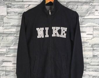 NIKE Swoosh Sweatshirt Zipper Ladies Medium Sportswear Streetwear Nike Spell Out Jacket Sweater Nike Outfit Black Size M