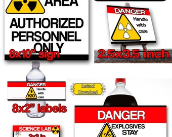 Science Party Kit, Science Bundle Tags, Sign,Soda, Water Labels, INSTANT DOWNLOAD