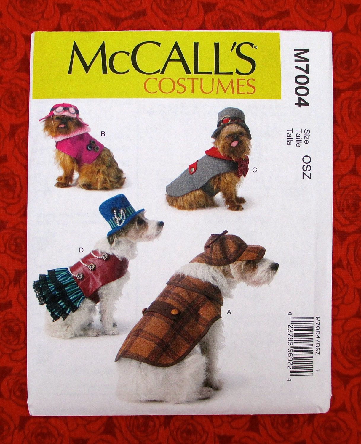 Mccalls sewing pattern m7004 dog costumes top hat coat zoom jeuxipadfo Image collections