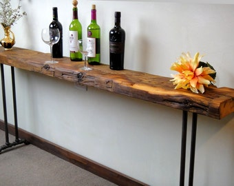 Narrow Console Table, Reclaimed Wood Table, Accent Table, Long Sofa Table,  Entry