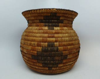 Antique Native American Basket - Pima Basket - Pima Olla - Southwest Basket