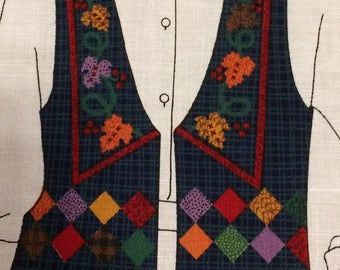 Fabric panel vest/Harvest Vest/XS-L/fall/thanksgiving/clothing/novelty vest/