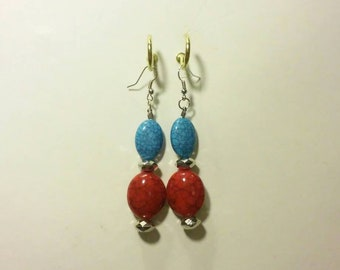 Beautiful beaded earrings that are very simple and cute