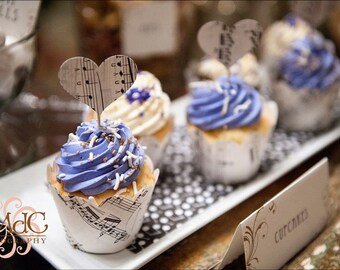 Winter Wedding, Cupcake Wrappers, Vintage Wedding, Music Theme Snow, Winter Wonderland, Snow Photo, Paper Snow