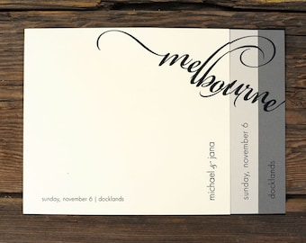 Layered Script Name Wedding Invitations