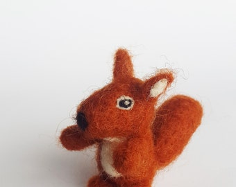 Mini Squirrel, Dollhouse Toy.Felted animal,Tiny Squirrel,Miniature Squirrel,Wool Miniature