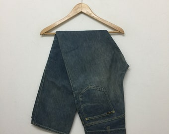 Extremely Rare !! Vintage 70s LEE Riders Big E Jeans/Lee Riders Selvedge Denim Jeans/Size 32