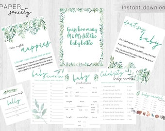 Printable Leafy Baby Shower Games