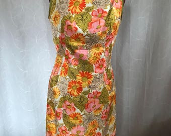 Vintage floral dress and matching outer coat